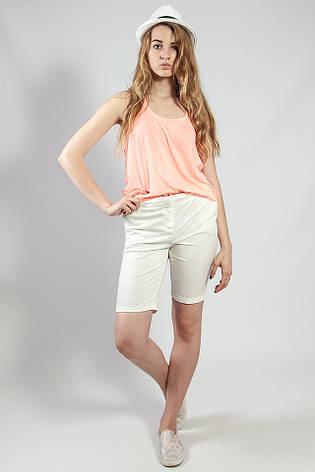 Женские шорты летние белые удлиненные  Camaieu, фото 2