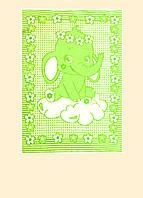 """Детское одеяло хлопок """"Слоник на облаке"""" ТМ Ярослав, 100х140 см, цвета в ассортименте"""
