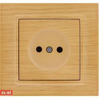 Розетка EL-Bi Zena Woodline берёза (механизм)