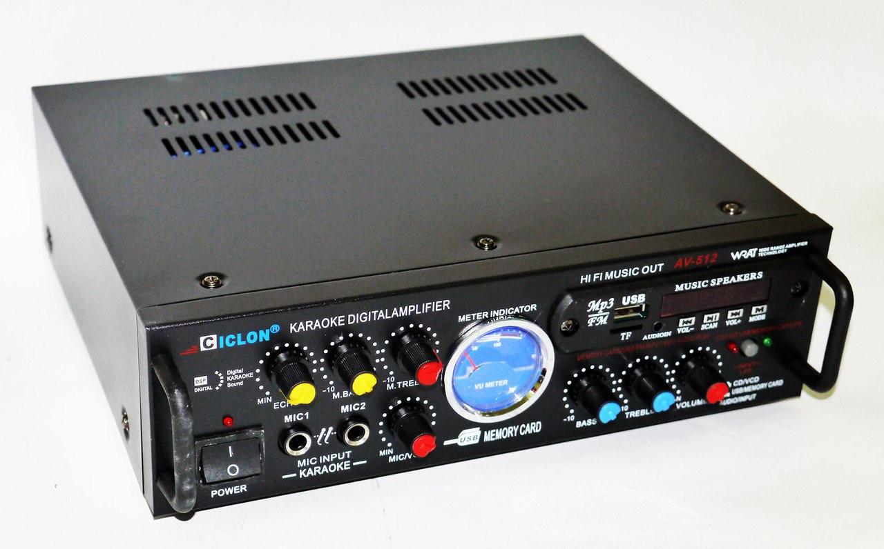 Підсилювач звуку Ciclon AV-512. Зручний і практичний підсилювач звуку.