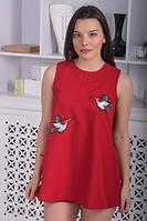 Летний костюм с шортами красный, фото 1