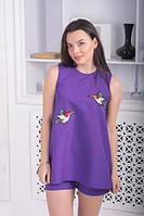 Летний костюм с шортами фиолет, фото 1