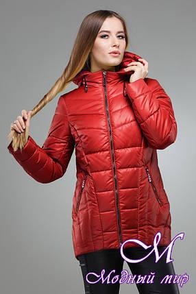 Женская теплая осенняя куртка большого размера (р. 42-56) арт. Амари, фото 2