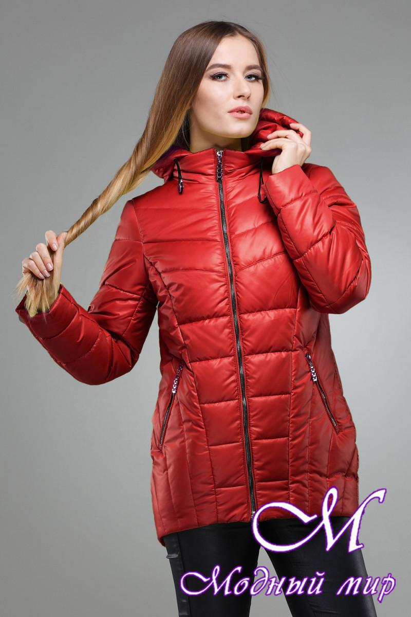 Женская теплая осенняя куртка большого размера (р. 42-56) арт. Амари
