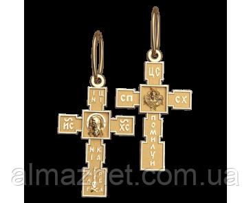 Золотой крестик Киевский из красного золота