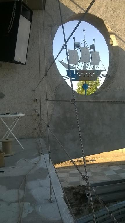 монтаж тросового ограждения в NOMADS Sea Bich Club, Бердянск, июнь 2017 5