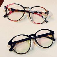 Имиджевые очки  большие круглые с анти бликом