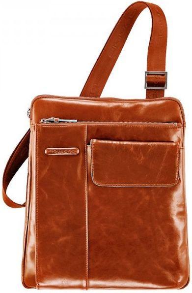 Кожаная сумка Piquadro BL SQUARE, CA1815B2_AR оранжевый