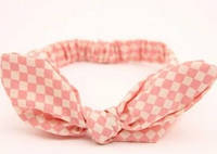 Повязка на голову для девочки солоха Ромб розовый