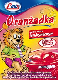 Напиток шипучий растворимый Oranzadka земляника Emix Польша 16г
