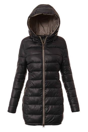 Зимний женский пуховик куртка  с капюшоном -1 Синий