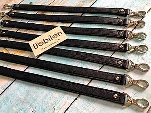 Ручка для сумки с карабинами (эко-кожа), черная