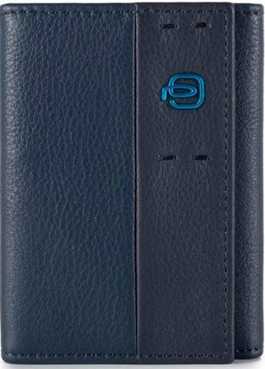 Практичная кожаная кредитница Piquadro Pulse для 9 карт PP4187P15_BLU3, синий