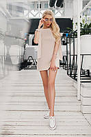 Красивое коротенькое женское мини платье со шлейфами