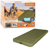 Велюр матрац 68727  эл насос,12В/USB усилен констр Intex