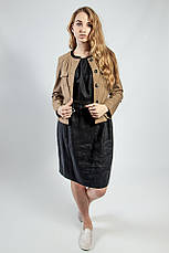 Пиджак женский короткий весна-осень кофейный молодежный S.Oliver, фото 3