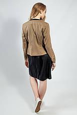 Пиджак женский короткий весна-осень кофейный молодежный S.Oliver, фото 2