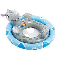 Детский круг плотик Носорог Intex 59570