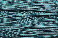 Шнур 5мм с наполнителем (200м) черный+мор.волна+т.серый