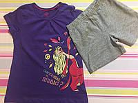 Набор футболка и шорты детские на девочку , 4-6 лет