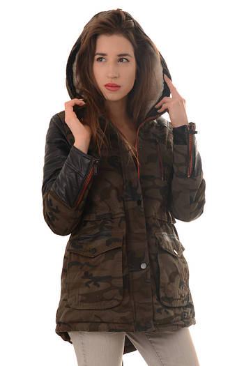 Парка женская зимняя хлопковая камуфляж