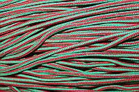 Шнур 5мм с наполнителем (200м) красный+зеленый (трава)