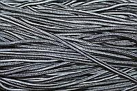 Шнур 5мм с наполнителем (200м) черный+белый