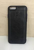 Кожаный чехол-накладка для iPhone 6/6S (Black)