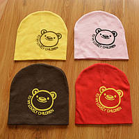 Шапочки  Bape детские для мальчика и девочки  Мишка жёлтый