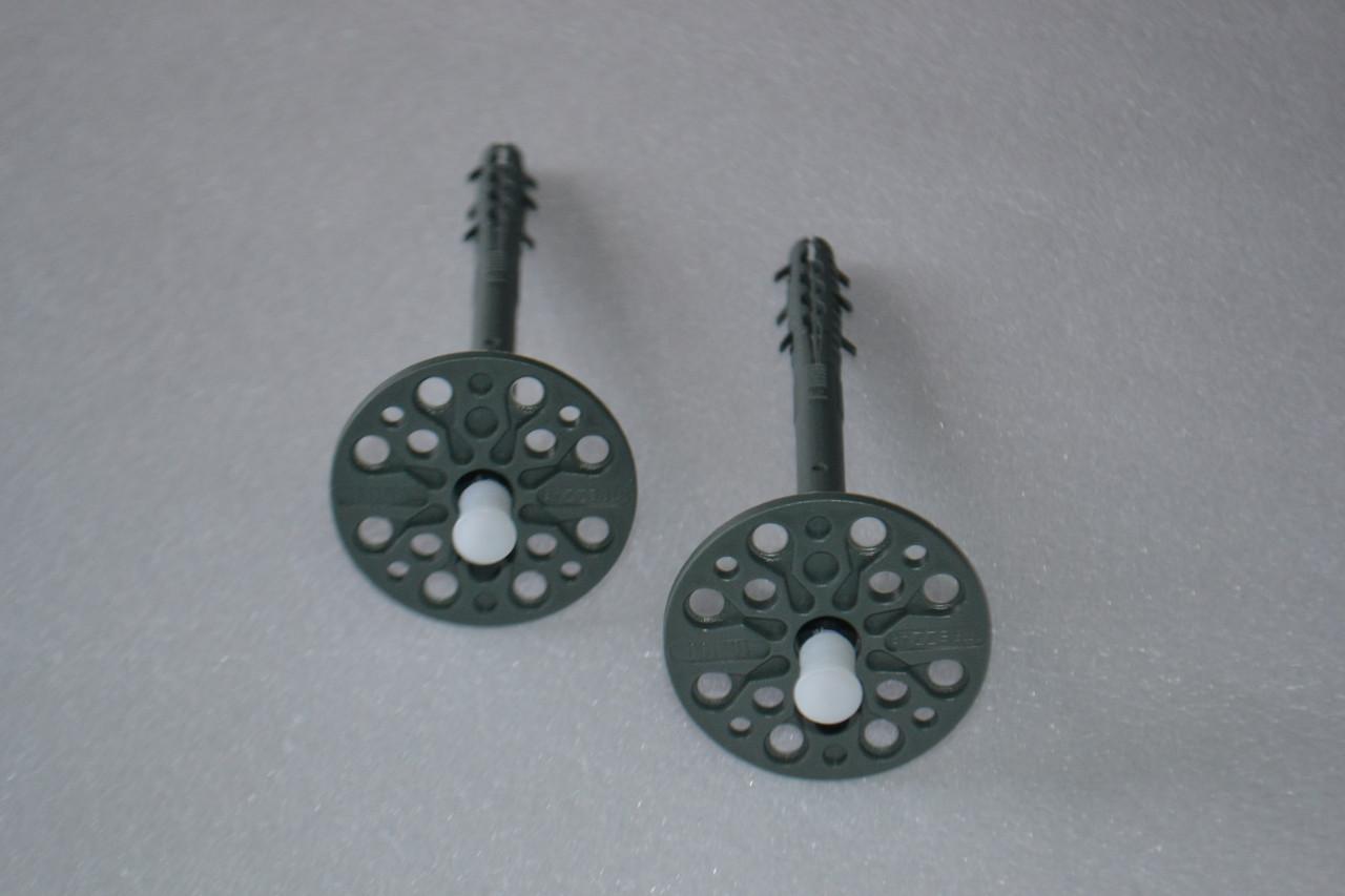 Дюбель-зонт с оцинкованным гвоздем и термоголовой 10х220мм (цветной).