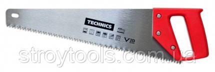 """Ножовка по дереву 450 мм, 4/1"""", 2D, пластиковая ручка,Technics 41-071, Киев"""