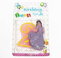 Свечи  цифры  (в торт) № HS-139 Принцессы №2