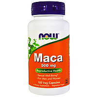 Maca 500 mg NOW Foods 100 капсул