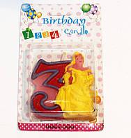 Свечи  цифры  (в торт) № HS-139 Принцессы №3