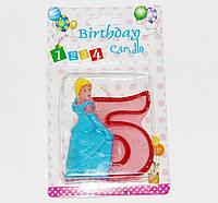 Свечи  цифры  (в торт) № HS-139 Принцессы №5