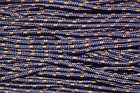 Шнур 5мм с наполнителем (100м) т.синий+горчица , фото 1