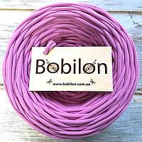 Трикотажная пряжа Bobilon 9-11 мм, цвет Пыльная роза