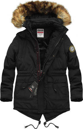 Мужская зимняя парка куртка с капюшоном на меху