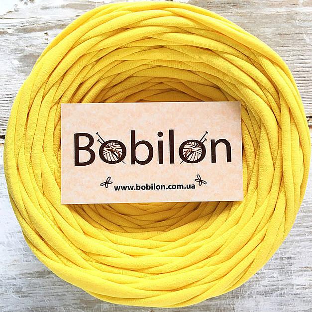 Трикотажная пряжа Bobilon 9-11 мм, цвет Желтый