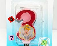 Свечи  цифры  (в торт) № M076 Принцессы №3