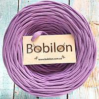 Трикотажная пряжа Bobilon 9-11 мм, цвет Сиреневый