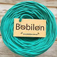 Трикотажная пряжа Bobilon 9-11 мм, цвет Мятный