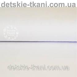 Однотонный трикотаж сингл джерси белого цвета (Польша)