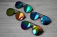 Солнцезащитные очки авиаторы капли унисекс в широкой оправе