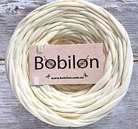 Пряжа лента Bobilon 9-11 мм, цвет Кремовый