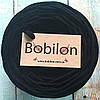Пряжа лента Bobilon 9-11 мм, цвет Черный