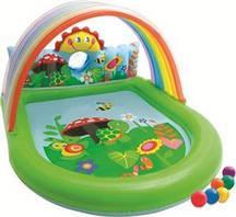 Детский надувной бассейн с навесом Оазис 57421NP Intex