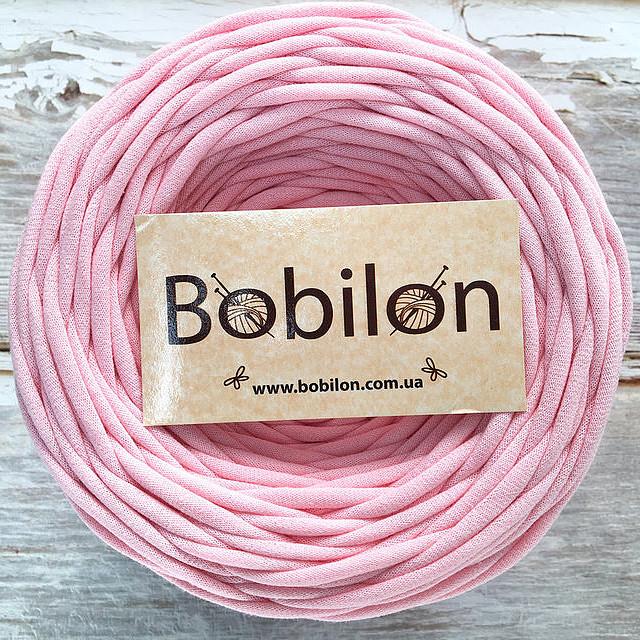 Пряжа трикотажная Бобилон 9-11 мм, цвет Нежно-розовый