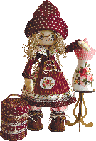 """Текстильная кукла """"Модистка"""", К1021"""