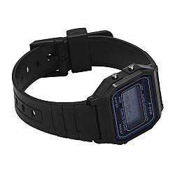 Силиконовые наручные часы, Черный, Унисекс